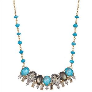 Alexis Bittar Spiked Crystal Row Pendant Necklace